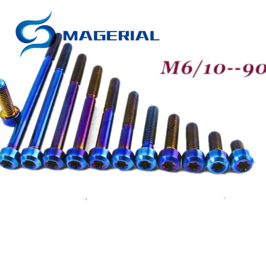 Titanium Screw Golden M6 X 16-18-20-22-25-26.5-30-35-40-45 Hollow Tapered T30