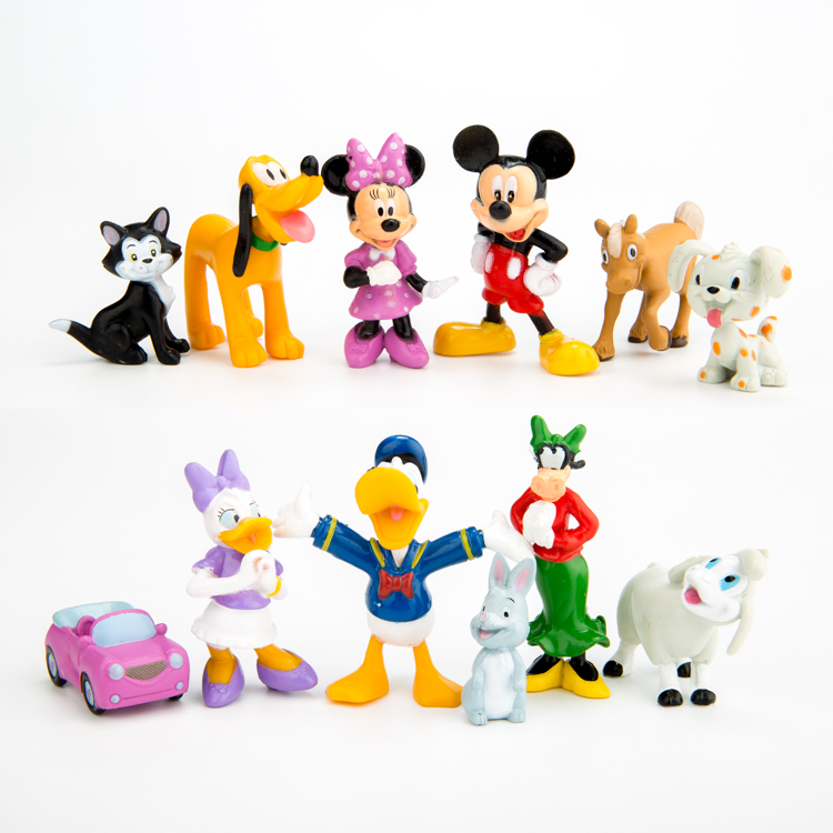 New 12pcs/set Mini Mickey Mouse Clubhouse Mickey Minnie Donald ...