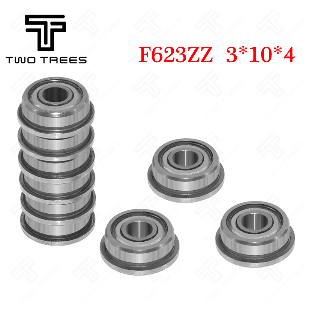 10pcs F604zz Metal Double Shielded Flanged Ball Bearings 4mm*12mm*4mm New