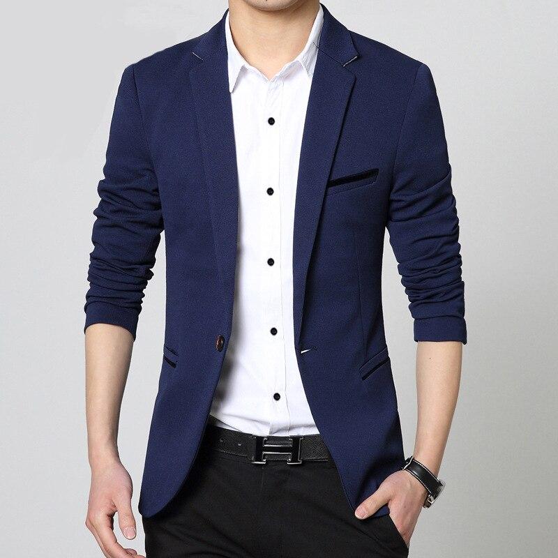 Online Shop Blazer Men 2015 New Design One Button Mens Blazer ...