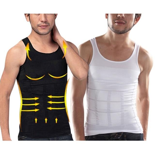 9087c9a1b00eb Men Shapers Sleeveless Firm Tummy Belly Buster Vest Control Slimming Belt  Hot Shaper Underwear Shirt Sauna Vest Drop Shipping