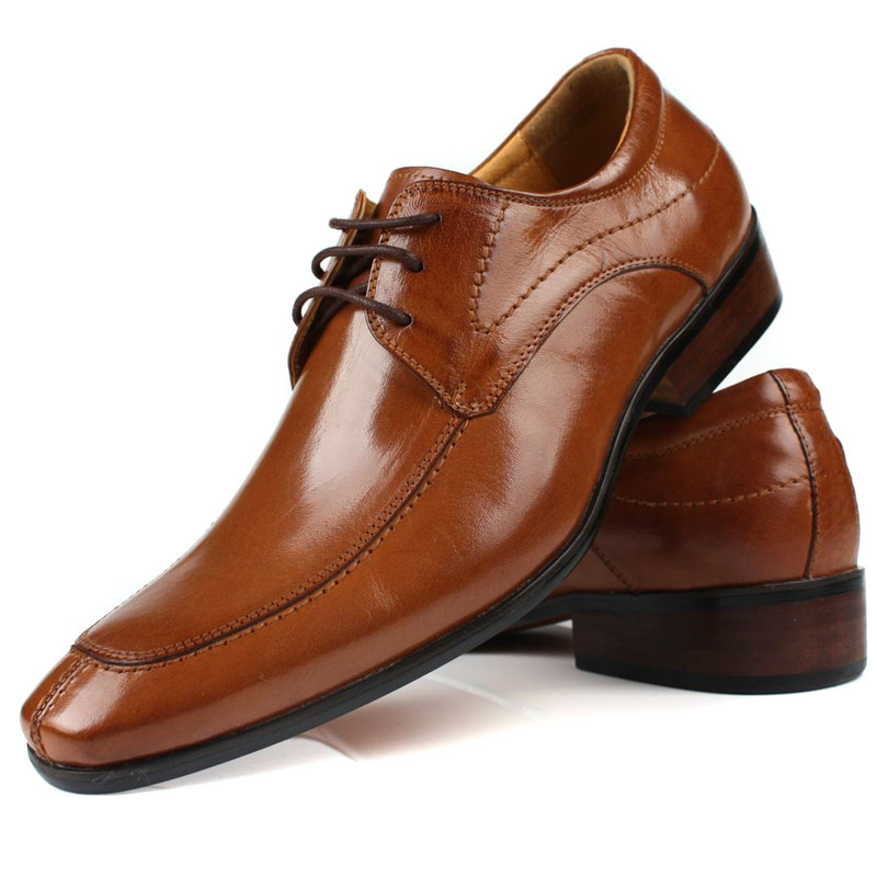 Large Size Eurp 46 Brown Black Mens Career Shoes Fashion Dress Men Office Flats Genuine Leather Pointed Toe In Women S From On