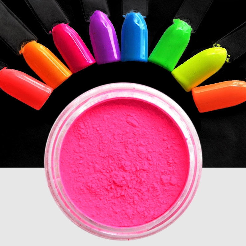 8 Boxes Neon Pigment Nail Powder Dust Ombre,Nail Are Neon Pigment ...