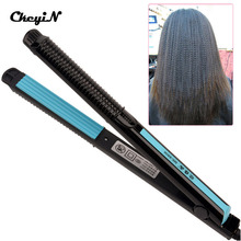 Temperature Control Electric Hair Straighteners 110-240V Straightening Corrugated Iron Hair Crimper Corn Plate Styling Tools 495