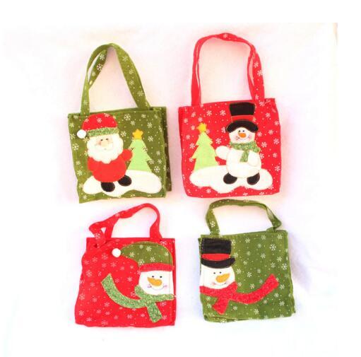 4db / lot karácsonyi négyzet alakú ajándék táska hóember - Ünnepi és party kellékek