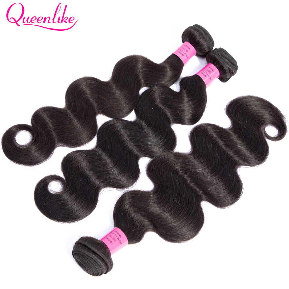 HTB1DzurX5frK1RjSspbq6A4pFXa2 Queenlike Hair 3 Bundles Brazilian Body Wave With 6x6 Big Lace Closure Double Weft Non Remy Human Hair Bundles With Closure