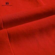 BEIYAYAN Women Dress Sleeveless Side Split Work Wear Office Dress 2017 New O-Neck Knee-Length Ladies Summer Dresses Red