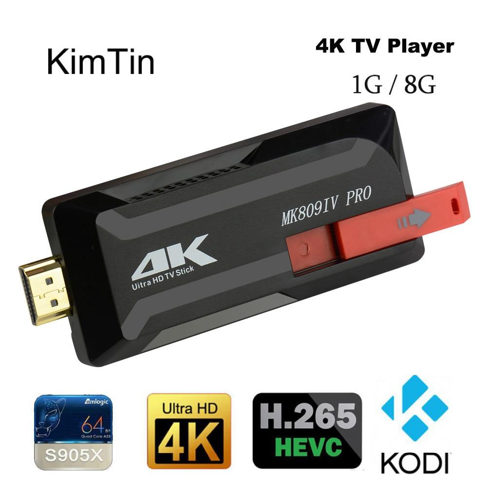 KimTin 4k TV Stick Ram 1GB Rom 8GB Amlogic S905X Cortex-A53 Android 6.0 Kodi 16.0 Tv Dongle Quad Core 4K 3D HDR Smart tv Player mini dlp projector android 4 4 smart tv box 1gb 8gb kodi xbmc 2 4g