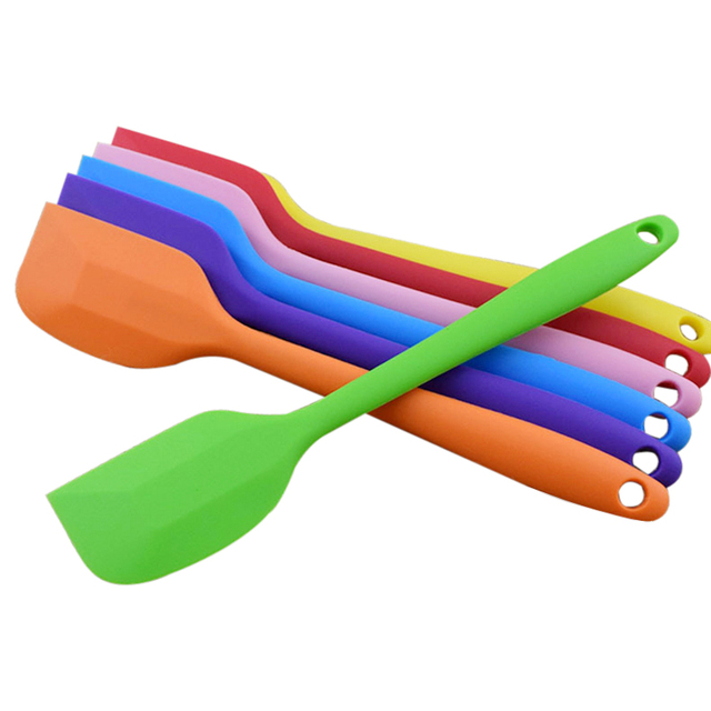 21x4 cm Kitchen Silicone Cream Butter Cake Spatula Mixing Batter Scraper Brush Butter Mixer Cake Brushes Baking Tool Kitchenware