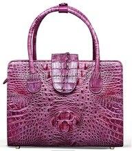 ร้อนขายจระเข้กระเป๋าหนังจระเข้ผิวกระเป๋าสำหรับผู้หญิง