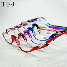 Half Rimless Magnetic Folding Readers Reading Glasses +1.0 1.5 2.0 2.5 3.0 Neck Hang Eyeglass Plastic Frames magnet Gafas De Lec
