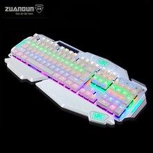 Podświetlany gaming przewodowa klawiatura mechaniczna klawiatura motospeed inflictor ck104 rgb niebieski przełączniki keyboard for desktop laptop z gniazd kart