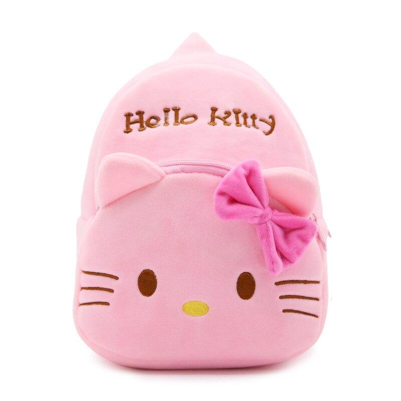 Zshop мультфильм рисунок «Hello Kitty» кота Детский рюкзак Вельветовая детская школьная сумка милый котенок рюкзак для Обувь для мальчиков и Обувь...