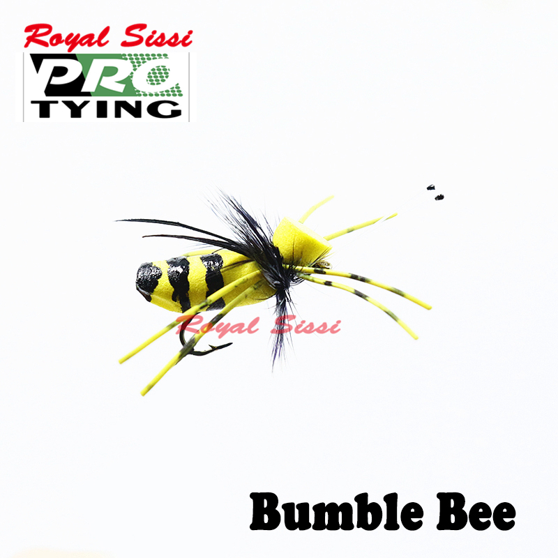 3 HOPPER POPPER Dry Flies YELLOW FOAM Popper Trout Fly Fishing Size 10,12,14