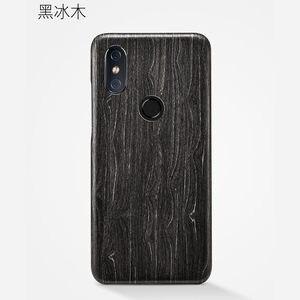 Image 5 - Caixa do telefone de madeira natural para xiao mi 8 caso capa de madeira de gelo preto, romã madeira, noz, rosewood para mi 8 pro
