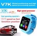 Bebé inteligente Reloj teléfono V7K Impermeable Niños GPS Pantalla Táctil Cámara Smartwatch SOS Ubicación Rastreador Kid Safe Anti-Pérdida q100 q90