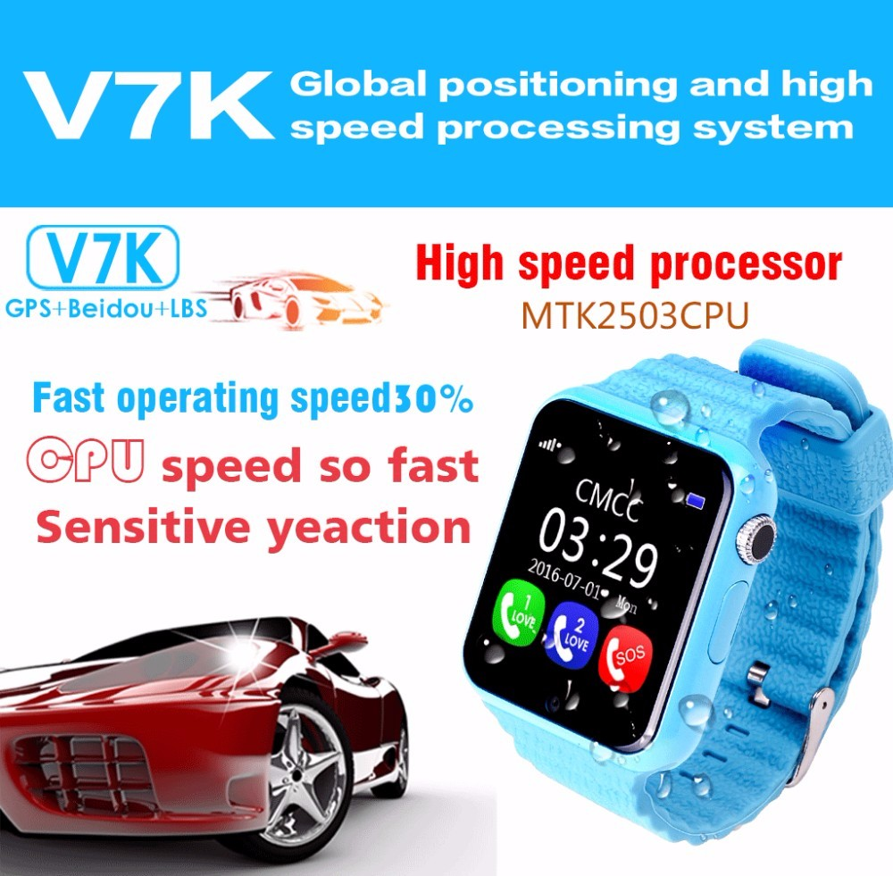Smart Baby phone Watch V7K Waterproof Kids GPS font b Smartwatch b font Touch Screen Camera