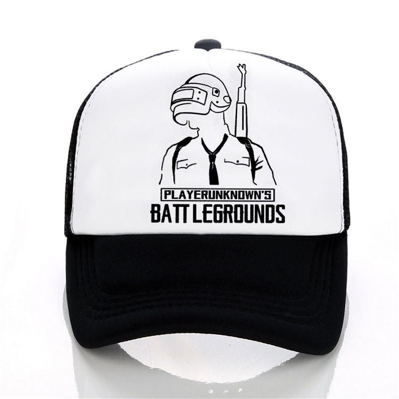 b54857805e47 PUBG Summer Baseball cap Men women letters printed Cool Mesh hat Fashion  casual outdoor Trucker Caps Hat – Clotheship