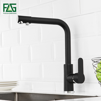 FLG Filter Kitchen Faucets Single Handle Taps 360 Rotation with Water Purification Features Mixer Tap For Kitchen Sink 1031-33B