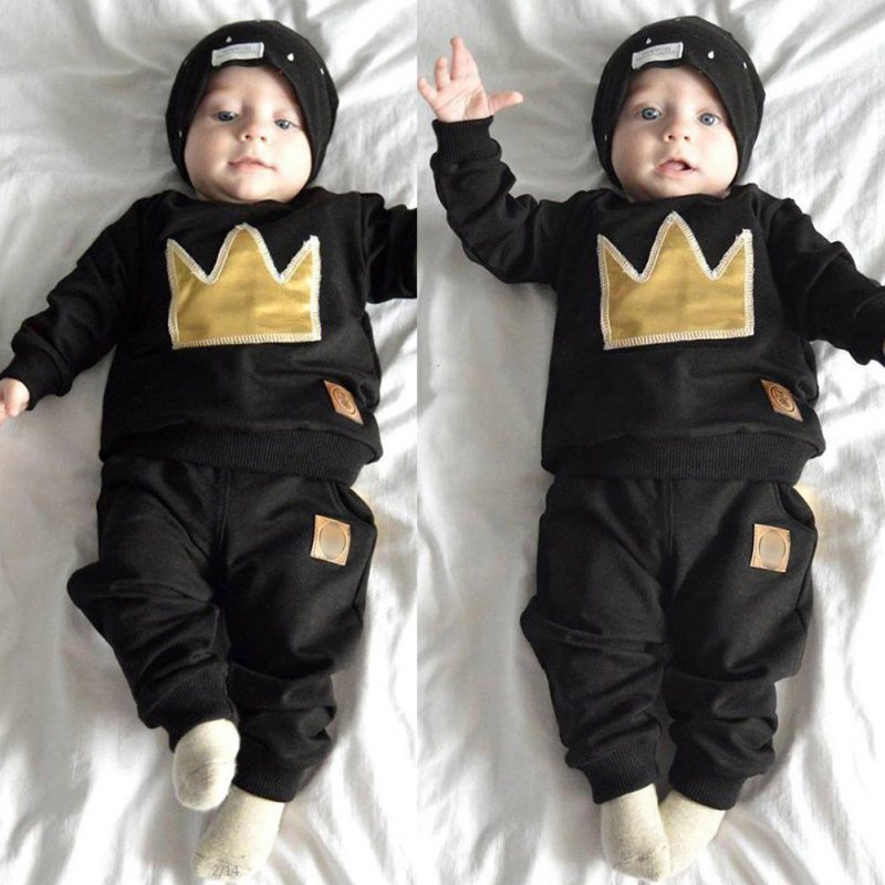 New-2-Pcs-Newborn-Toddler-Infant-Baby-Boys-Girls-Clothes-Set-T-shirt-TopsPants-Outfits-S01-4