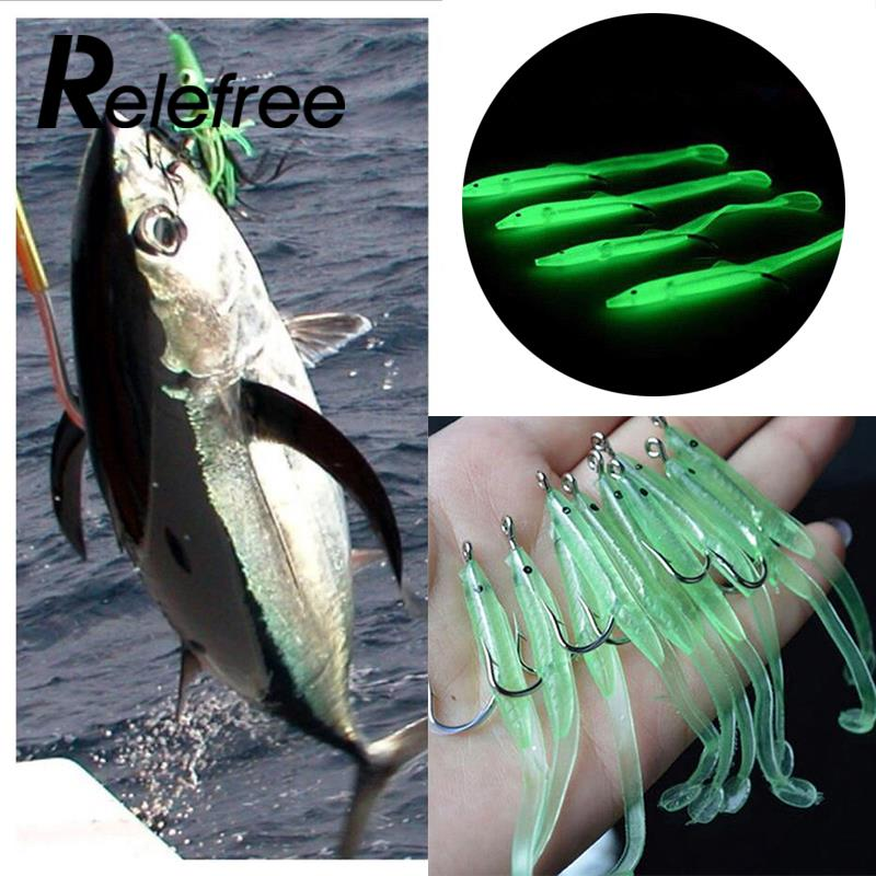 10PCSBag Fishing Fake Lures Soft Eel Baits Sports Tool Tackle Accessories