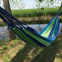2017 HOT Indoor Children Swing Portable Outdoor Garden Hammock Hang Travel Camping Swing Canvas Stripe Indoor