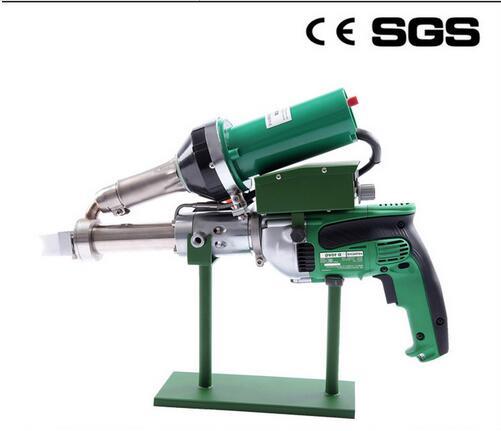 Machine en plastique de soudure de tuyau de HDPE de soudeuse d'extrusion en plastique de pistolet de soudure d'extrudeuse de main