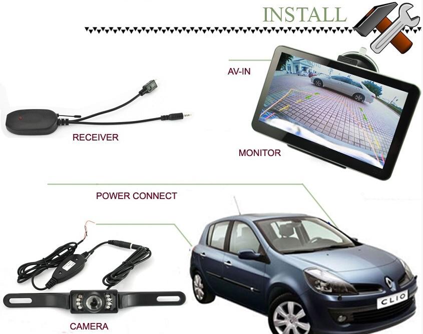 """"""" Автомобильная gps-навигация+ беспроводная камера заднего вида 128 M/8G Bluetooth AV-IN"""