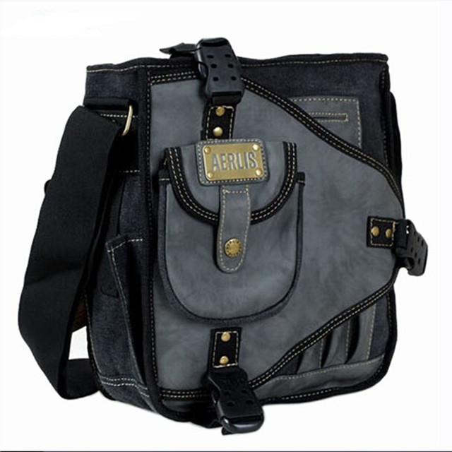b7cbb613db3 AERLIS Multifunction Men s Messenger Bags Men Canvas Shoulder Bag Handbag  Casual Travel Bolsa Masculina Men s Crossbody Bag