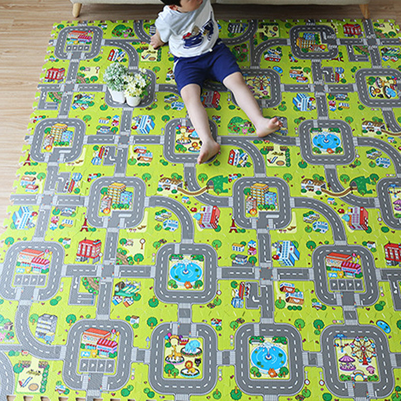 Baby Traffic Route Puzzle Play Mat Children Educational Split Joint EVA Foam Crawling Pad Game Carpet Kids Toys Gift Rug Playmat