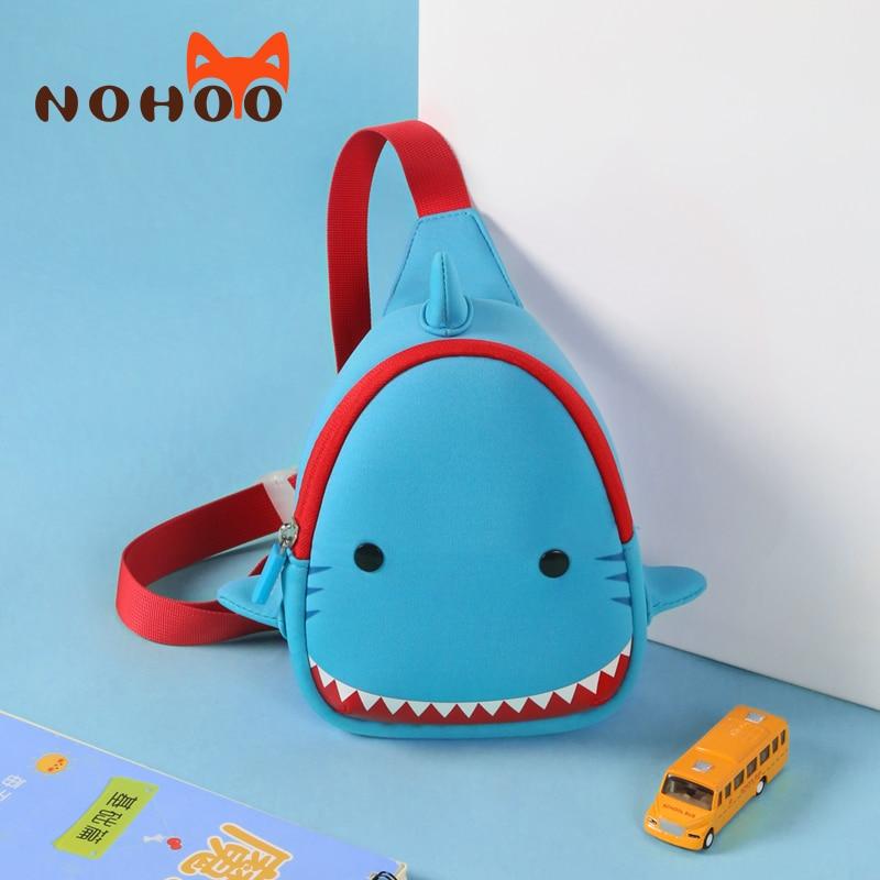 NOHOO 3D modeli peshkaqen Fëmijët Qese vizatimore çanta të - Çanta dore