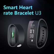 U3 Сенсорный экран Смарт-Браслет Шагомер Смарт-браслет сердечного ритма Мониторы SmartBand Bluetooth Фитнес для P L3FE
