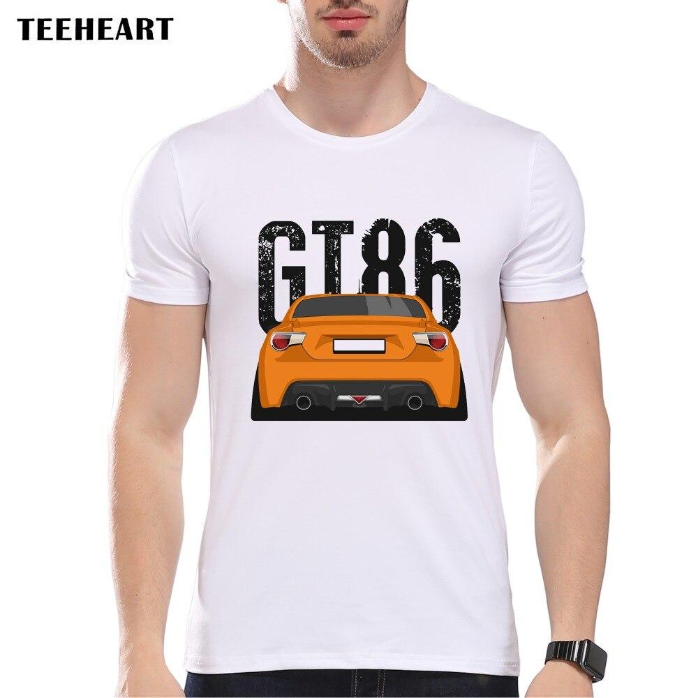 T shirt design uk cheap - Teeheart Men S Fashion Retro Race Car Design T Shirt Cool Tops Short Sleeve Hipster Gt86
