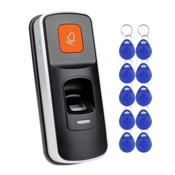 RFID автономный считыватель отпечатков пальцев, биометрический контроллер доступа, Открыватель дверей, поддержка sd-карты