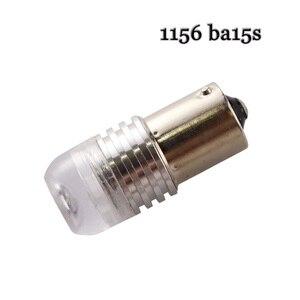 Image 4 - 10pcs S25 P21W 1156 BA15S Strobe flash 3W Lens 3 SMD 7020 LED Car turn signal light stop parking lights lamp 12V white yellow