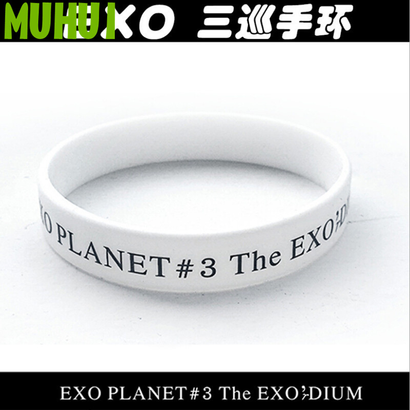 1 Pcs Wit Exo Albums Armband Vrouwen Exo Planet #3 De Exo'r Dium Armbanden & Bangles 1450 Bespaar Zonder Kosten