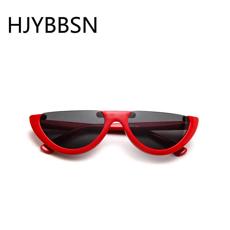 HJYBBSN Moda Semi-rimless óculos de Sol das Mulheres Marca de Luxo Projeto Metade Oval óculos de Sol Coloridos Óculos Motorista Óculos de sol oculos de sol