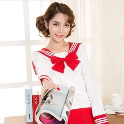 High Quality Sailor Suit Students School Uniform For Teens Preppy Style Cos Uniform JK Fashion Japanese Seifuku Bow Skirt Shirt