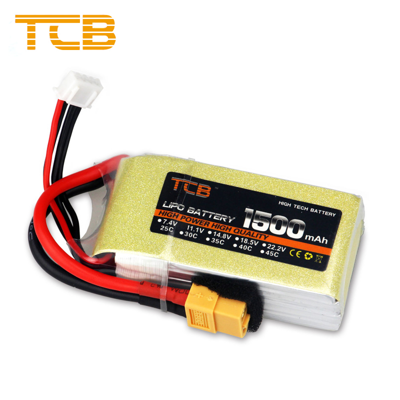 TCB Update Lithium Polymer Lipo Battery 11.1V 1500mAh 3S 25C-40C XT60 Plug For RC Helicopter Car Truck Hobby Drone Parts Bateria 381725 polymer lithium battery 3 7v cel 110mp3 battery bluetooth battery lithium battery