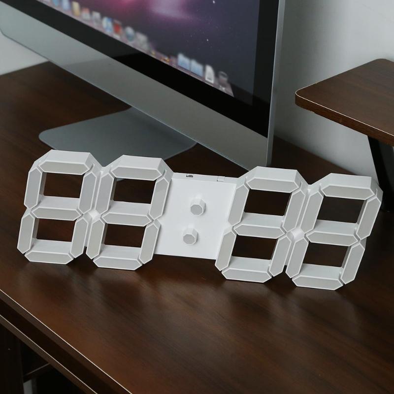 Большие настенные часы Современный 3D светодио дный цифровой настенные часы с пульта дистанционного управления Home decor 24 или 12 час Дисплей ча...
