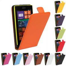 Luxury Genuine Real Leather Case Flip Cover Mobile Phone Accessories Bag Retro Vertical For Nokia LUMIA 520 N520 PS