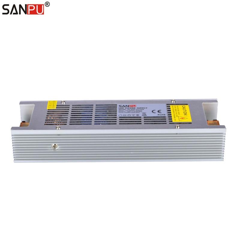 SANPU SMPS alimentation LED alimentation 24 v 300 w 12a tension constante commutation pilote 220 v ac à dc transformateur d'éclairage pas de ventilateur intérieur - 3