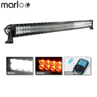 Marloo 300W 52inch Straight White Amber LED OffRoad Light Bar Remote Control Driving Fog Lamp For Jeep Wrangler Car Accessories