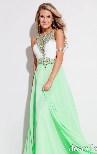 Light Green Colored Prom Dresses