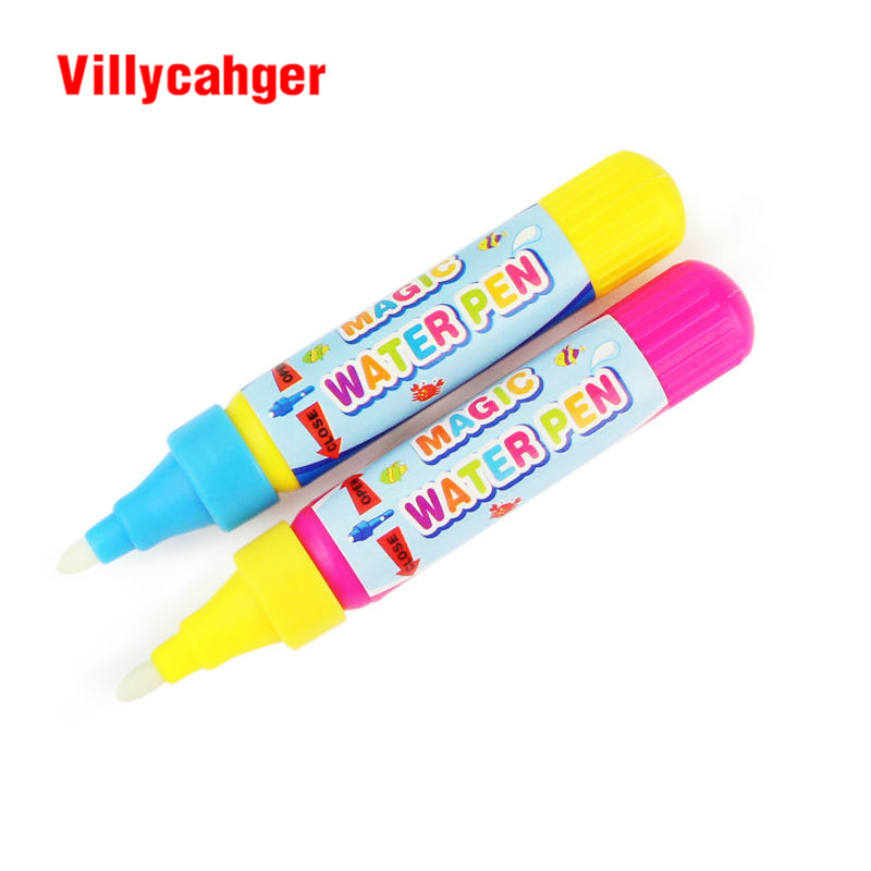 Logical 2 Pcs/lot Drawing Pen Doodle Magic Pen Just Add Water Blue Or Red Water Drawing Marker Without Cover Cap