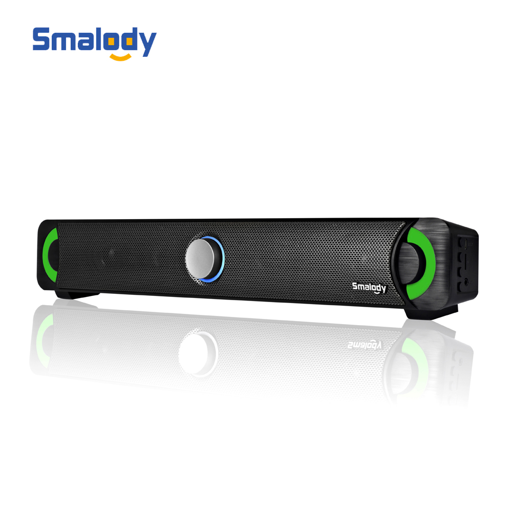 Smalody YXSM9014BT Bluetooth 4.2 Soundbar LED Wireless Speakers Home Theater 10W Stereo Subwoofer Support LINE IN TF Music Play-in Portable Speakers from Consumer Electronics    1