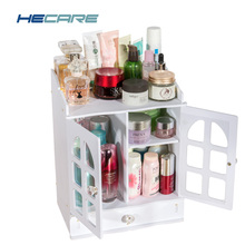 Dressing Table Plastic Cosmetic Organizer with Drawer Waterfroof Classical Makeup Box for Storage Make Up Earrings Cosmetics New