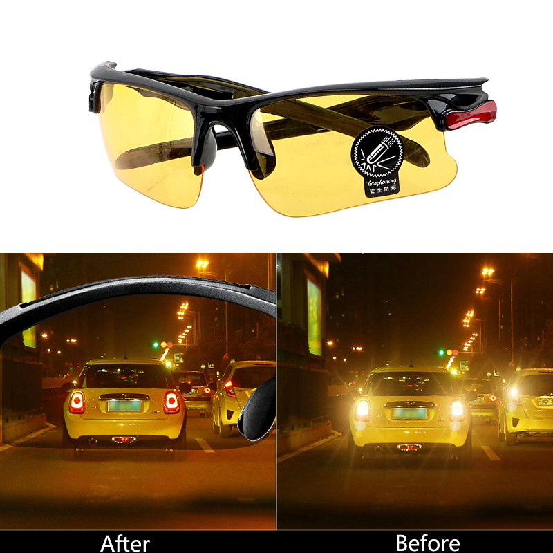 Night Vision Drivers Goggles Sunglasses Car Driving Glasses For <font><b>Mercedes</b></font> Benz W202 W220 W204 W203 W210 W211 W222 X204 AMG CLK image
