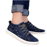 Mens Shoes Casual 2016 Summer New Fashion Canvas Shoes Breathable Four Seasons Lace Up Hole Flat