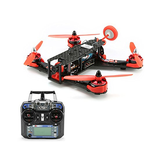 F18216 210GT 210mm Mini Quadcopter FPV Racing Drone RTF Combo Full Set with CC3D Flight Control FS-I6 Remote – Red